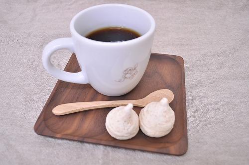 木のお皿 S 茶